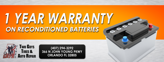 1 year warranty on reconditioned batteries