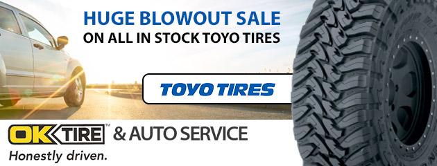 Huge blowout sale on all in stock Toyo Tires
