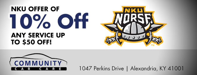 NKU offer of 10% Off any service up to $50 off!