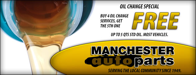 Oil change special: Buy 4 oil change services, get the 5th one free