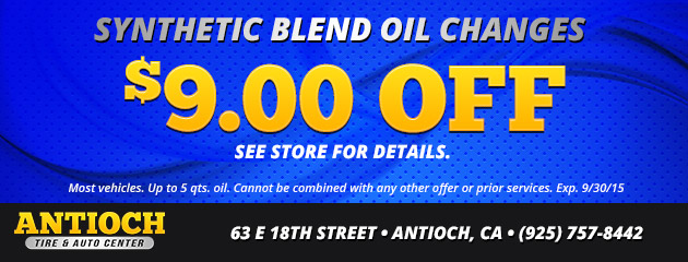 $9 off oil changes for synthetic blend coupon