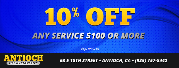 0% off any service $100 or more,