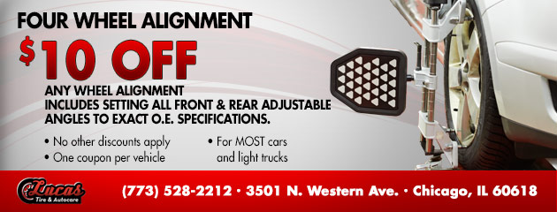 $10 OFF Four Wheel Alignment