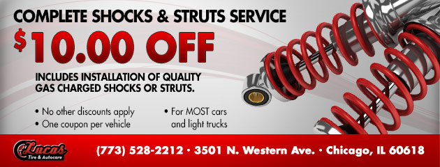 Complete Shocks & Struts Service - $10.00 Off!