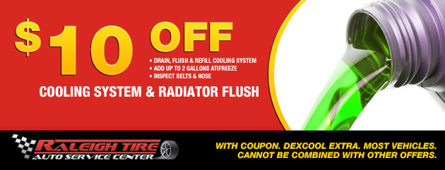 $10 off Coolant/Radiator Flush