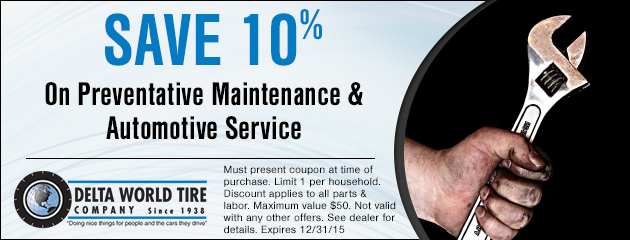 Save 10% On Preventative Maintenance