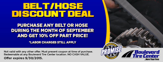 BELT/HOSE DISCOUNT DEAL
