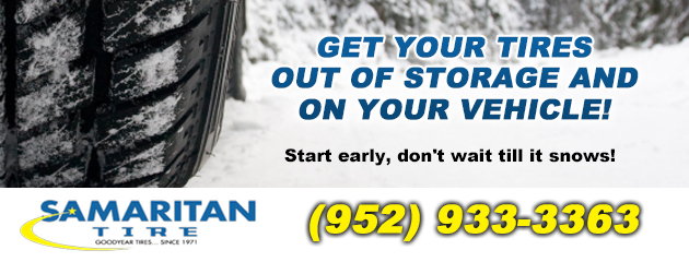 Get your tires out of storage & on your vehicle!