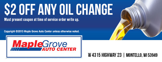 $2 Off any Oil Change