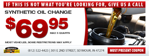 Synthetic oil change for $69.95