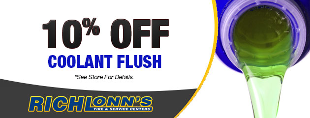 10% off coolant flush