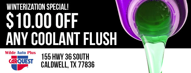 Winterization Special! $10.00 Off Any Coolant Flush