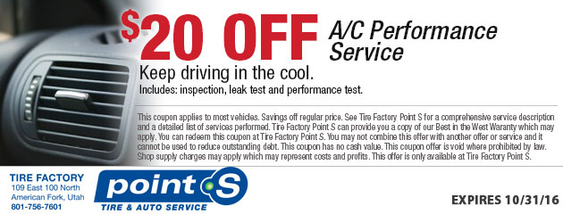 $20 off Air Conditioning Service