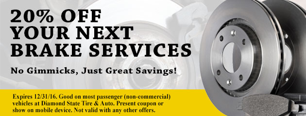 20% Off Your Next Brake Service