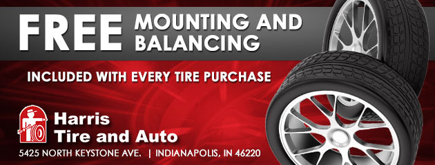 Free Mounting and Balancing included with every tire purchase