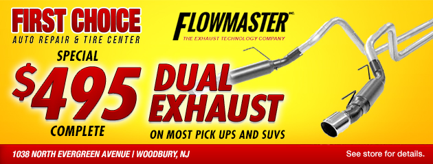 Special - $495 Flowmaster Dual Exhaust