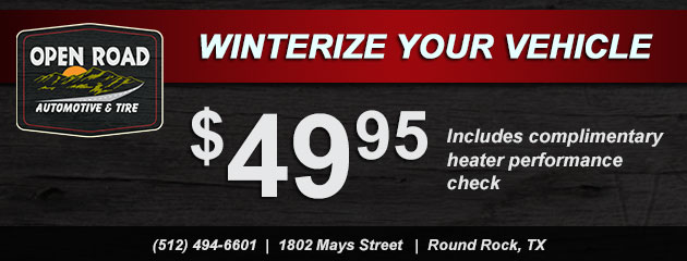 Winterize your vehicle - $49.95