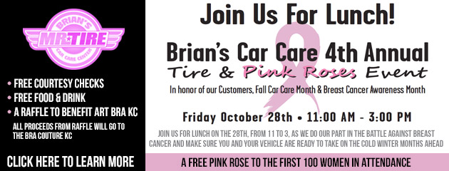Tire & Pink Roses Event