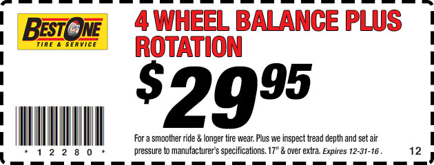 4 Wheel Balance Plus Rotation