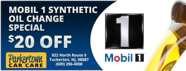 Mobil 1  Synthetic Oil Change  $20 Off