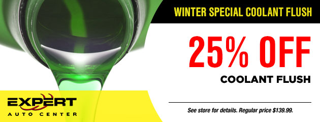 25% Off Winter Special Coolant Flush