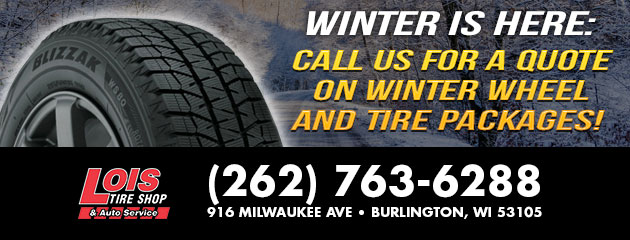 Call us for a quote on Winter Wheel and Tire Packages!