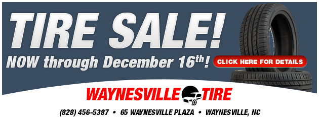 Tire Sale! Now through December 16th!
