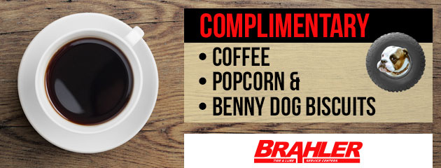 Complimentary Coffee Popcorn Benny Dog Biscuits