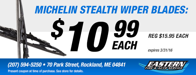 Michelin Stealth Wiper Blades: $10.99 each