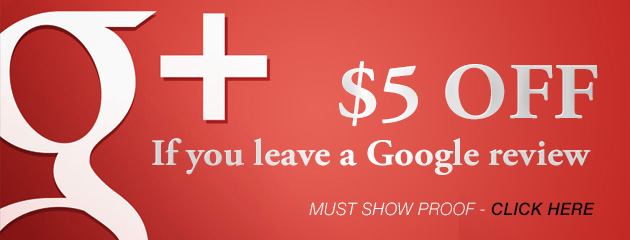 $5.00 Off for a google plus review