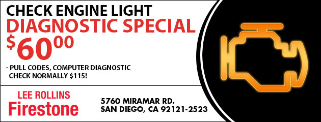 Check Engine Light Diagnostic Special $60.00