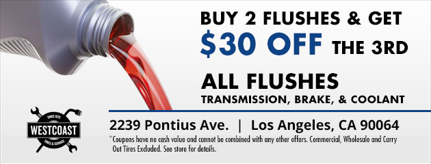 Buy 2 Flushes Get $30 Off The 3rd