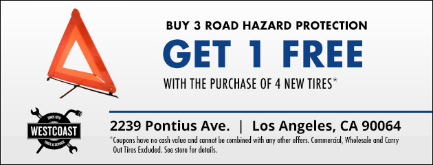 Buy 3 Road Hazard Protection, Get 1 Free