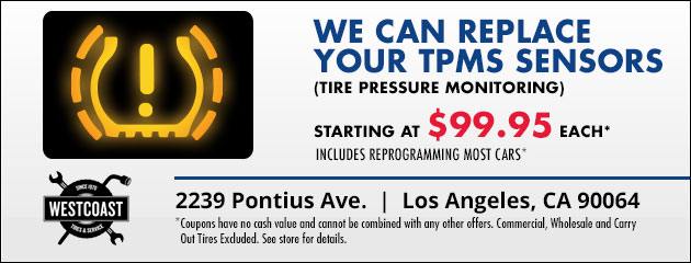 We can replace your TPMS sensor