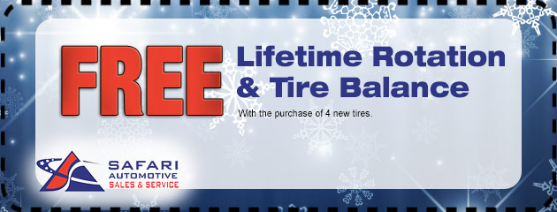 Free Lifetime Rotation & Tire Balance