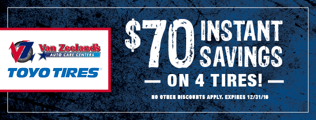 $70 Instant Savings On 4 Toyo Tires!