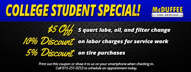 College Student Special!