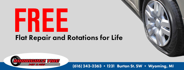 Free Flat Repair and Rotation for life