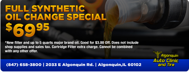 Full Synthetic Oil Change $69.95