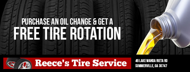 Purchase an oil change and get a free tire rotation