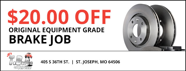 $20.00 off OE grade brake job