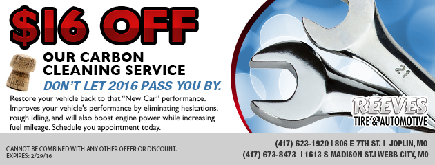 $16 off Our Carbon Cleaning Service