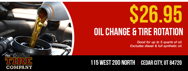 $26.95 Oil Change and Tire Rotation Coupon