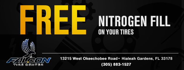 Free Nitrogen fill on your tires