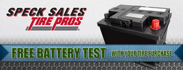 Free Battery test with your tire purchase