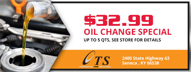 Oil change special 32.99