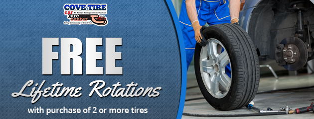 Free Lifetime Rotations with purchase of 2 or more tires