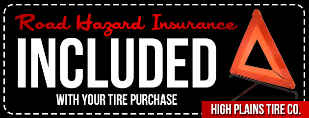 Road Hazard Insurance Included With Your Tire Purchase
