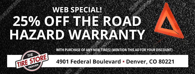 Web Special - 25% Off Road Hazard Warranty