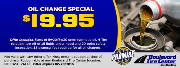 Oil Change Special - $19.95